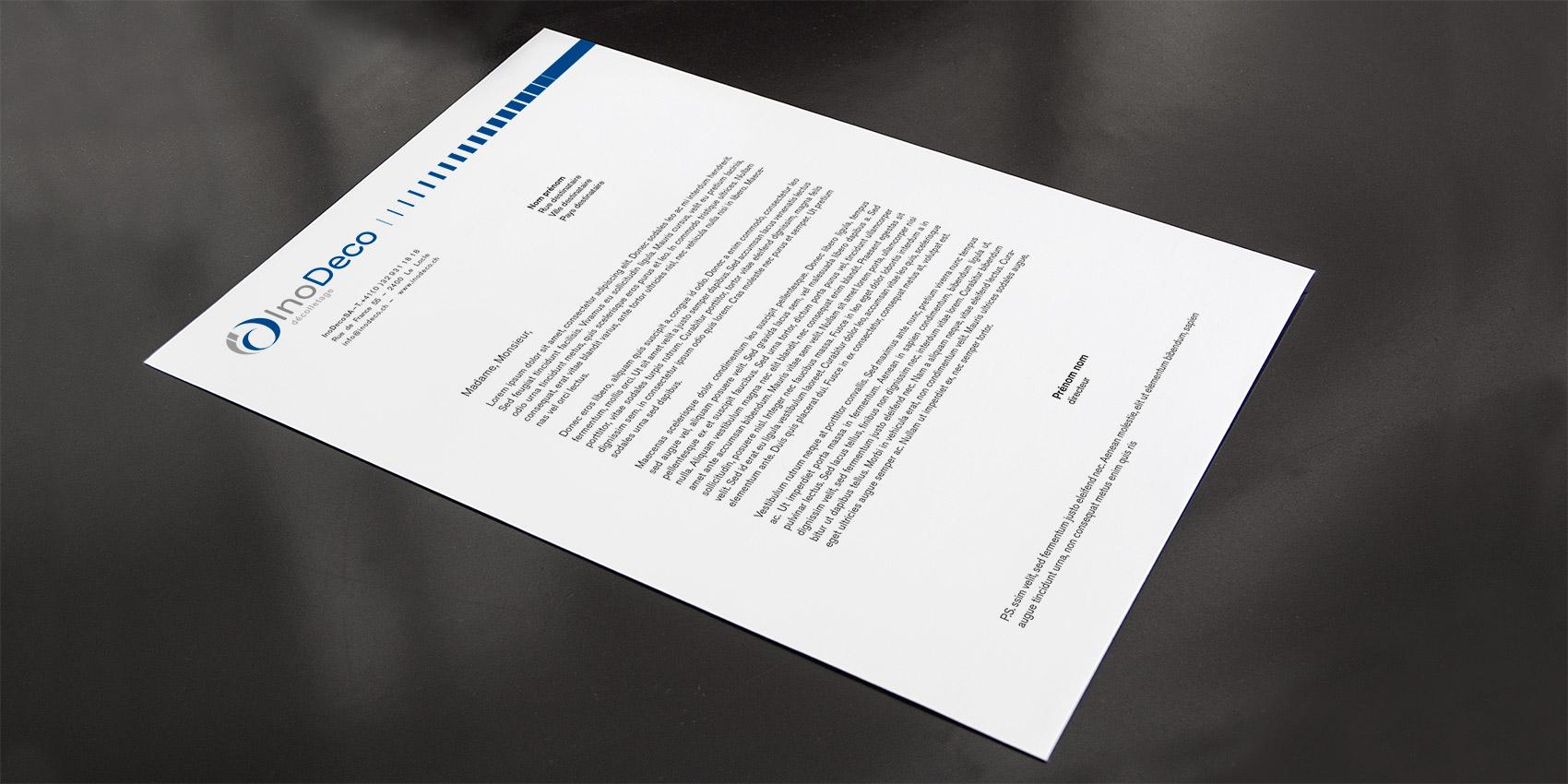 Inodeco - entête de lettre A4 - B12communication, communication et graphisme