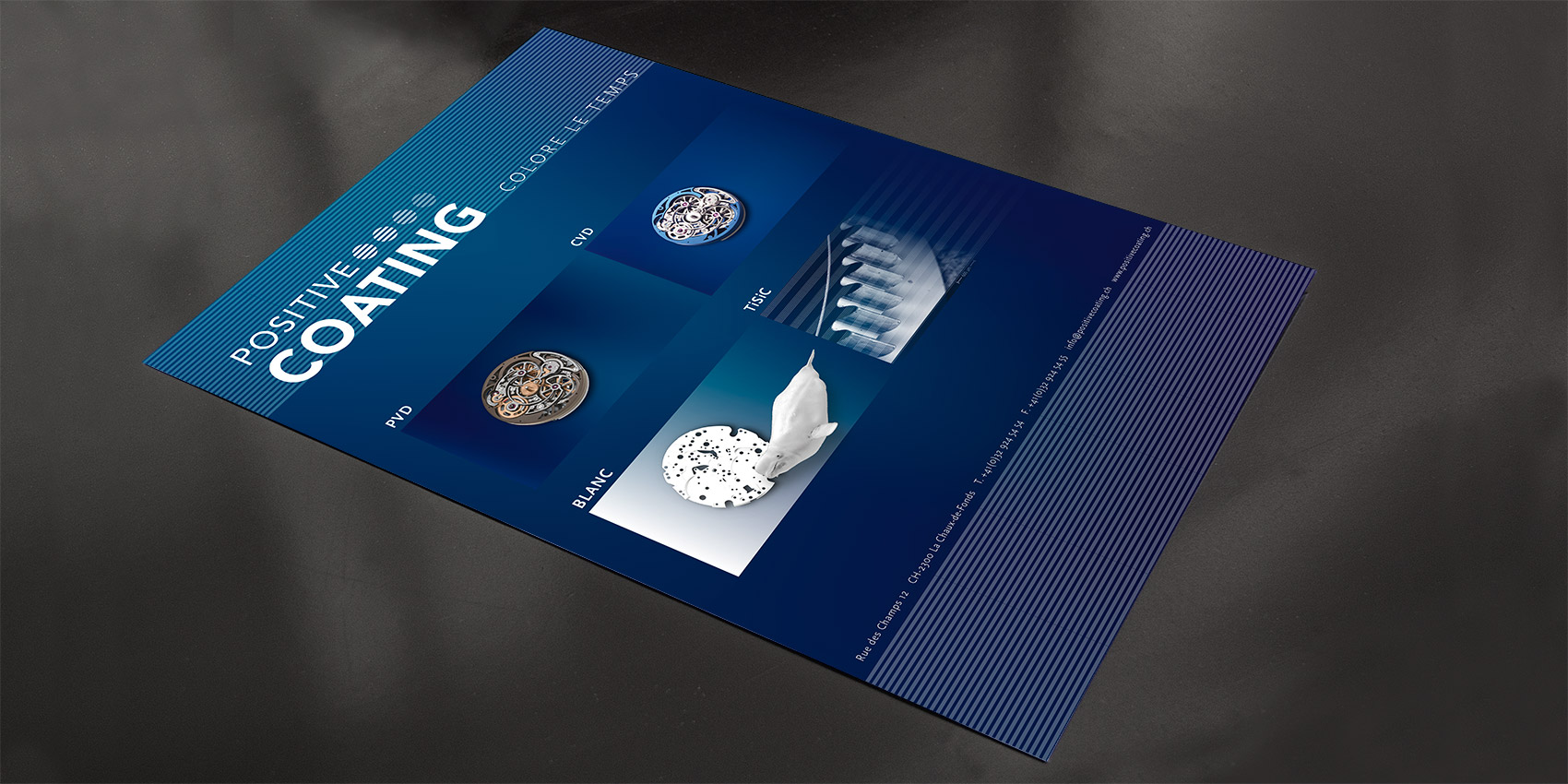 Positive Coating - Poster - B12communication, communication et graphisme