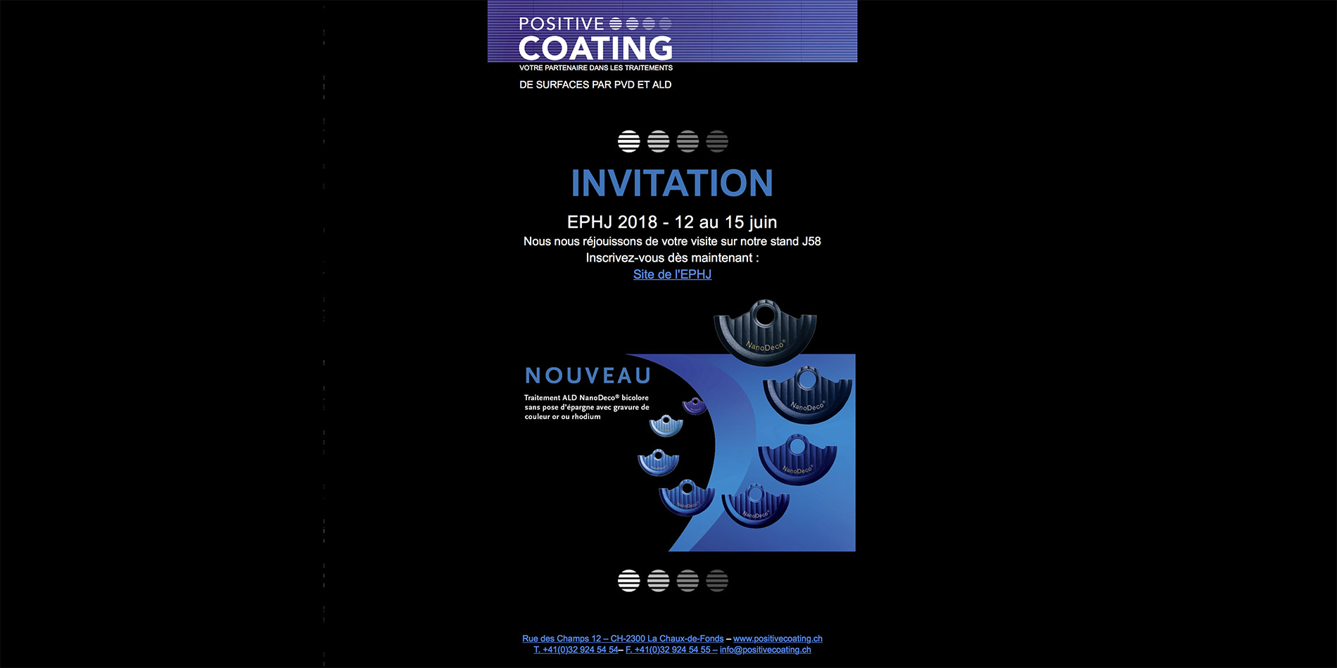 Positive Coating - Newsletter - B12communication, communication et graphisme