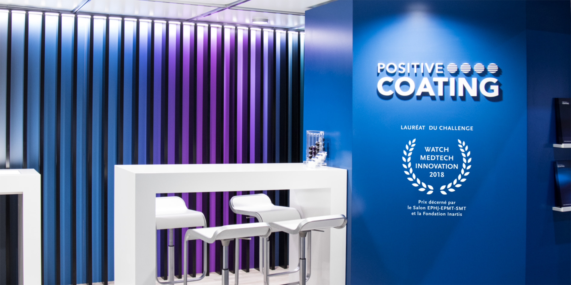 Positive Coating - Vitrine EPHJ 2018 - B12communication, communication et graphisme