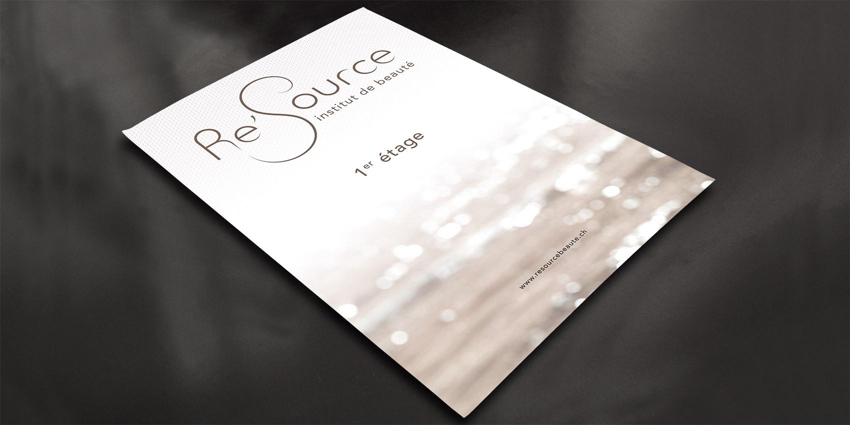 Re'source Beauté - affiche F1 - B12communication, communication et graphisme