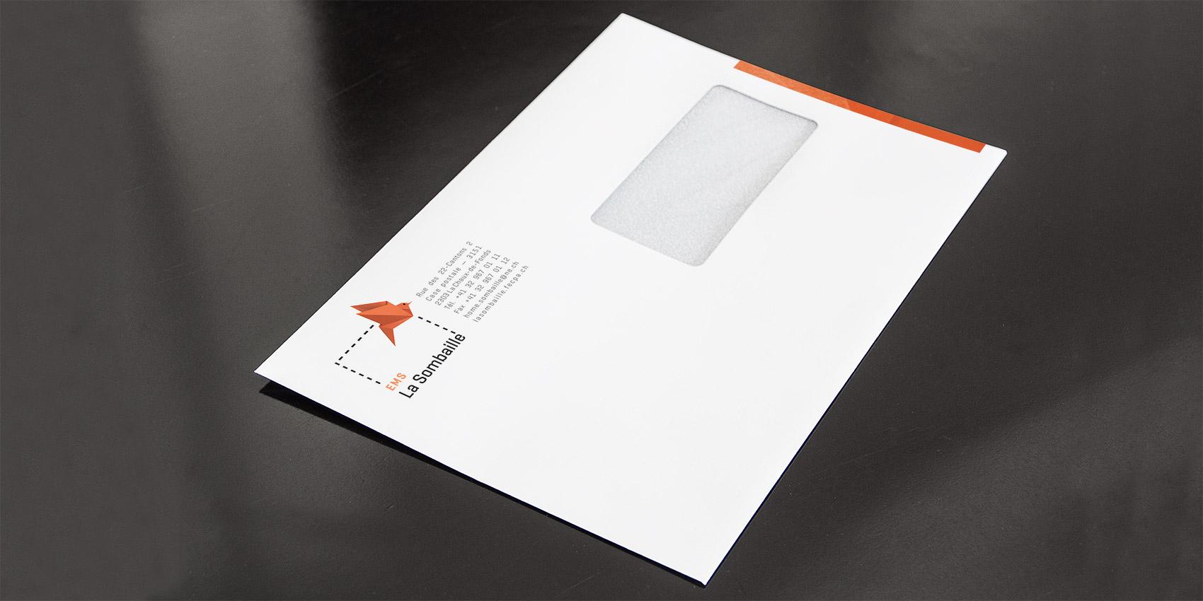 La Sombaille - Enveloppe C5 - B12communication, communication et graphisme