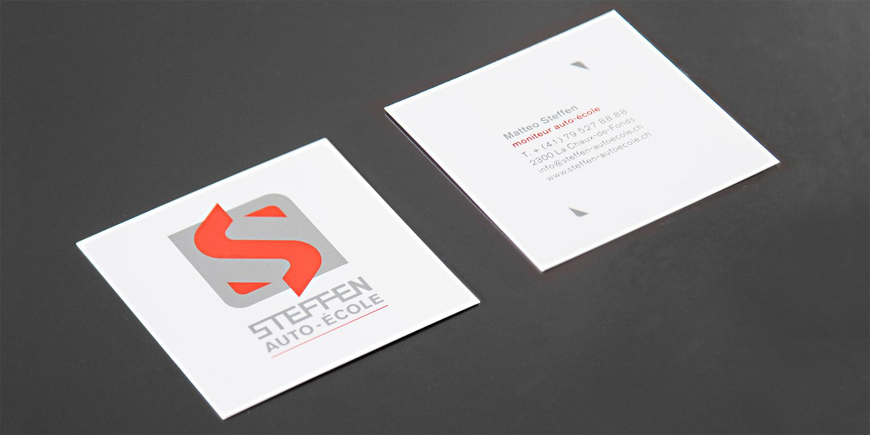 Steffen Autoécole - Logo - B12communication, communication et graphisme