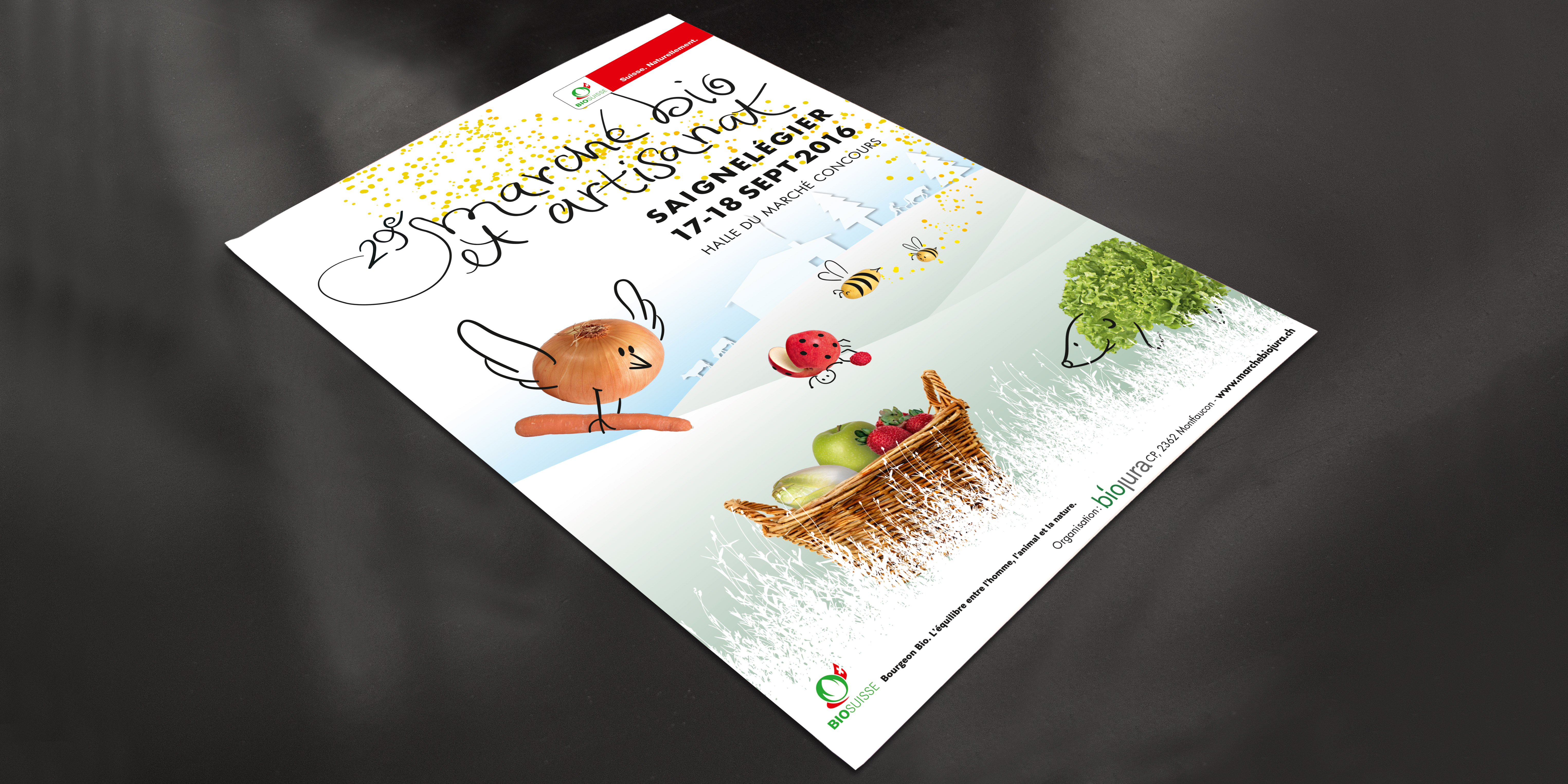 Marché bio - affiche F4 - B12communication, communication et graphisme
