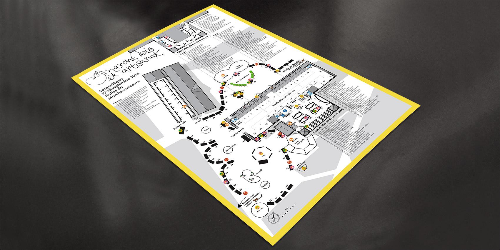 Marché bio - programme - B12communication, communication et graphisme