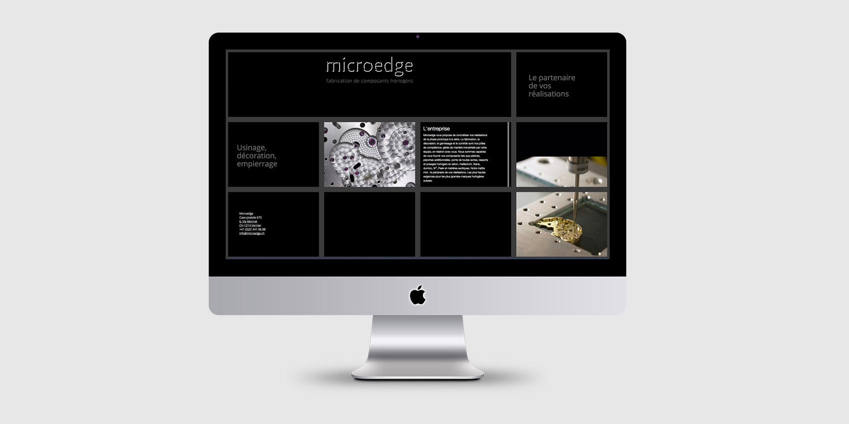 Microedge - Webdesign - B12communication, communication et graphisme
