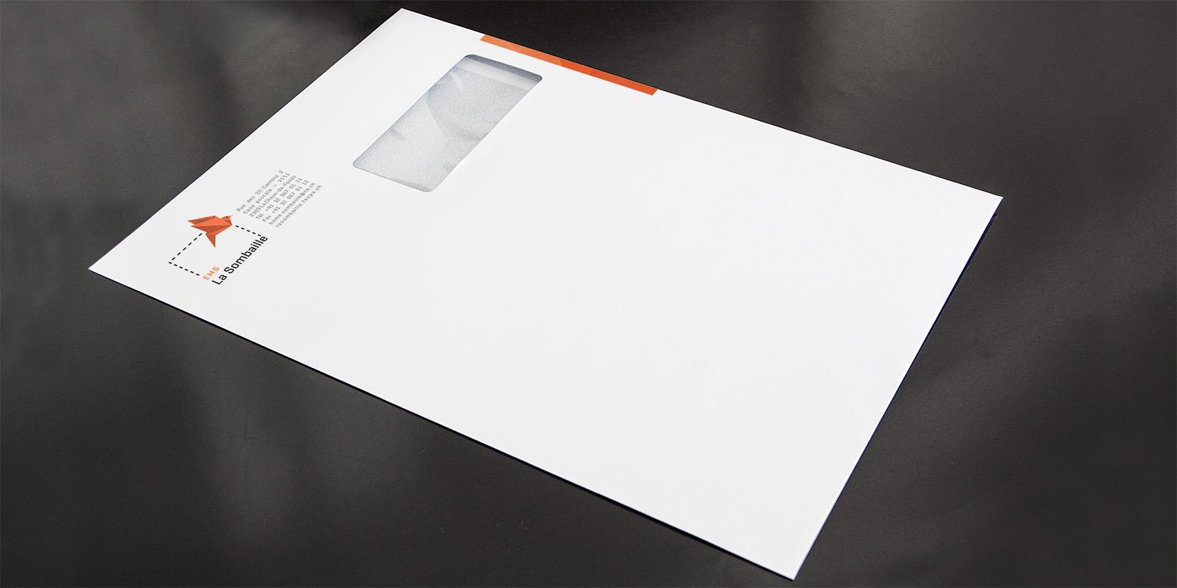 La Sombaille - enveloppe C4 - B12communication, communication et graphisme