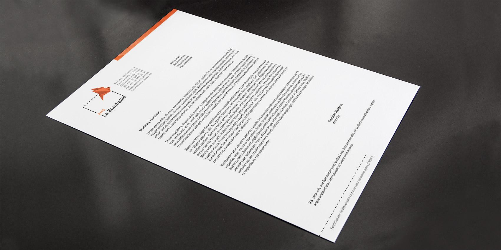 La Sombaille - lettre A4 - B12communication, communication et graphisme